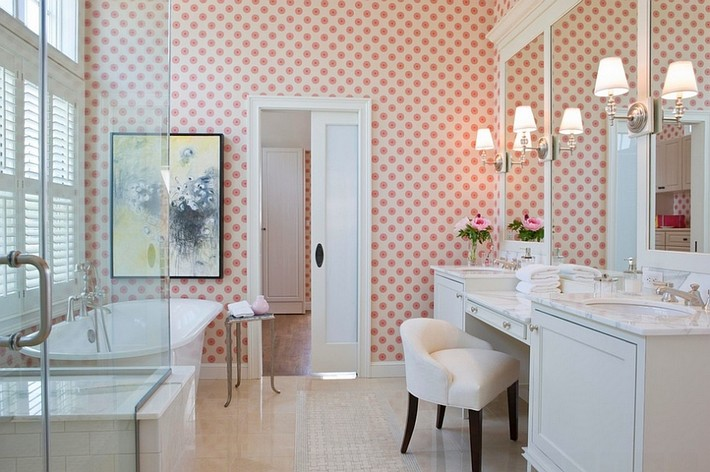 A little feminine touch for your luxury bathroom  A little feminine touch for your luxury bathroom A little feminine touch for your luxury bathroom