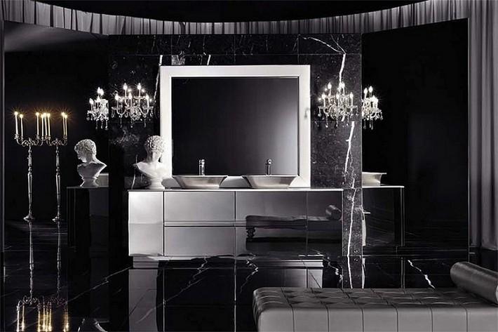 BATHROOM TRENDS-Black means luxury  BATHROOM TRENDS: Black means luxury BATHROOM TRENDS Black means luxury