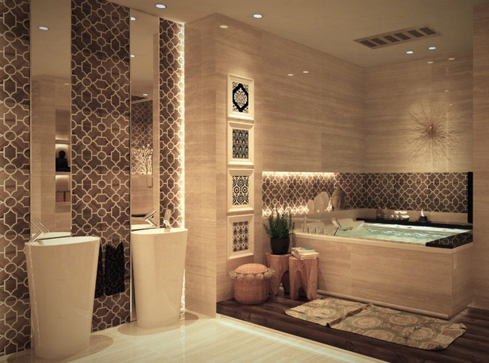Get the Moroccan Style for your luxury bathroom1