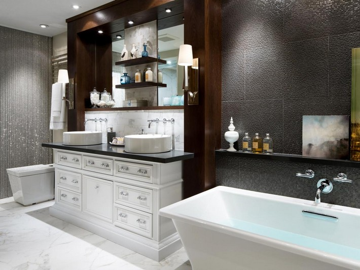 Attractive ... Get The Lavish Look With This Bathroom Ideas Get The Lavish Look With  This Bathroom Designs ...