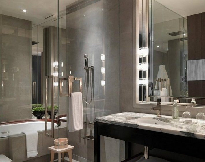 Get the luxury look with a tub in the shower