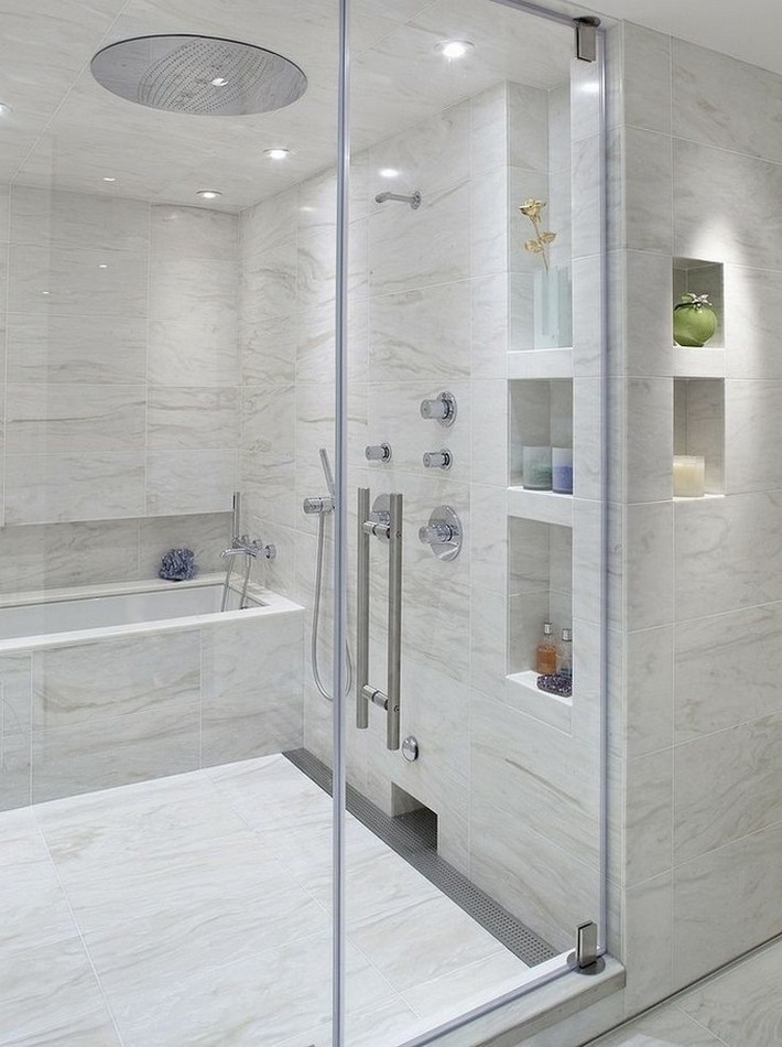 Get the luxury look with a tub in the shower | Inspiration and Ideas ...
