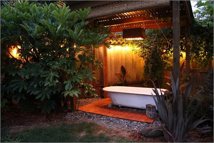Outdoor Spa Ideas For Your Home   Inspiration and Ideas ... on Backyard Bathroom Ideas id=83257