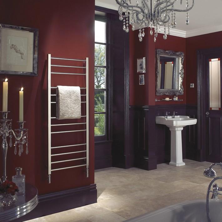 "Style: ""Color tone - warm""  Ideas to use Marsala on your bathroom decor Olga   Mirror Finish Room Set"