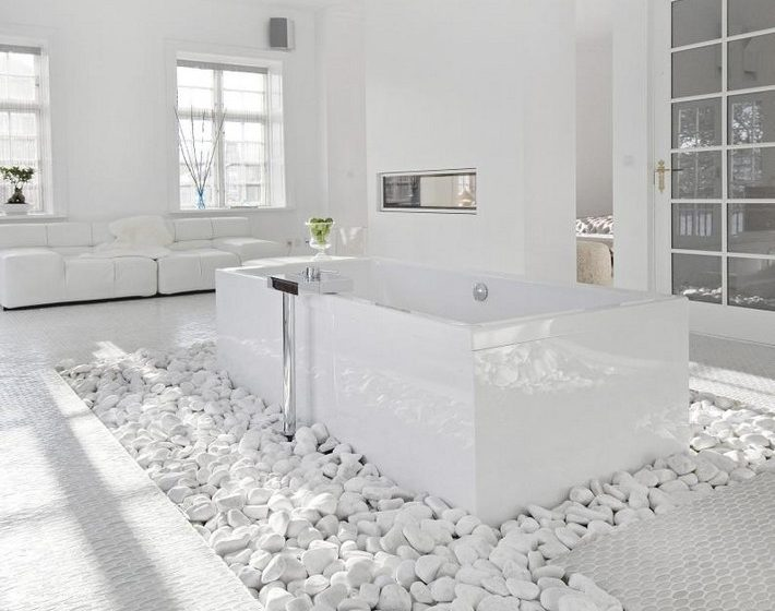 Go white for simple and modern bathroom beautiful white spa bathroom ideas with white bathroom 710x560