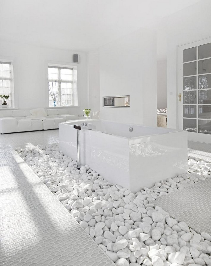 Go white for simple and modern bathroom inspiration and for Modern white bathroom designs