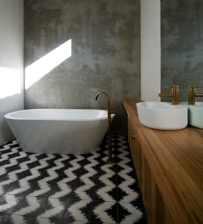 Unique Pattern Floors For Your Bathroom