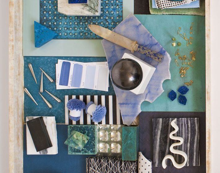 Mood Board Green and Blue pallete inspiration for bathroom design mood board bathroom design grey blue green 710x560