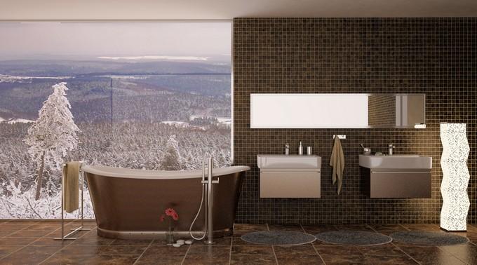 Winter bathroom inspiration  Luxury Winter Bathroom Sets to warm you Winter bathroom inspiration