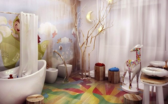 15-deer-star kids bathrooms Colorful and funny kids bathrooms designs 15 deer star e1449489432242