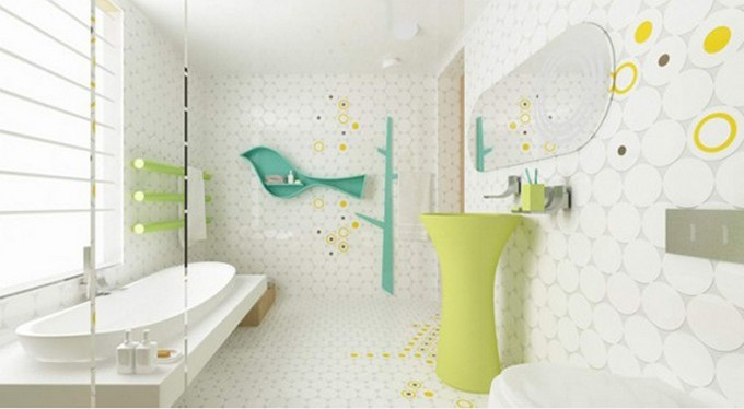 16-bird-cirlce kids bathrooms Colorful and funny kids bathrooms designs 16 bird cirlce e1449489454575