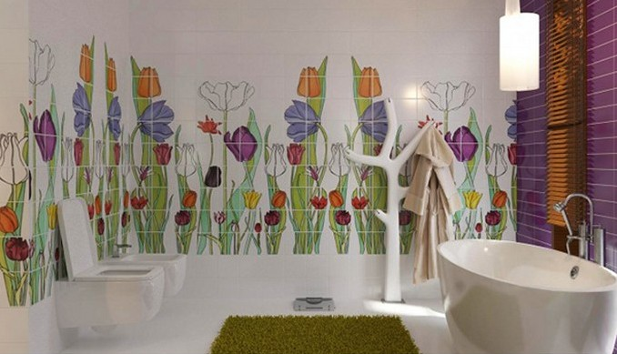 17-flower-bath kids bathrooms Colorful and funny kids bathrooms designs 17 flower bath e1449489470761