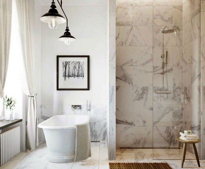 marble bathroom 10 Marble bathroom ideas for your home 15 Marble Bathroom Ideas For Your Daily Rituals 3 680x560