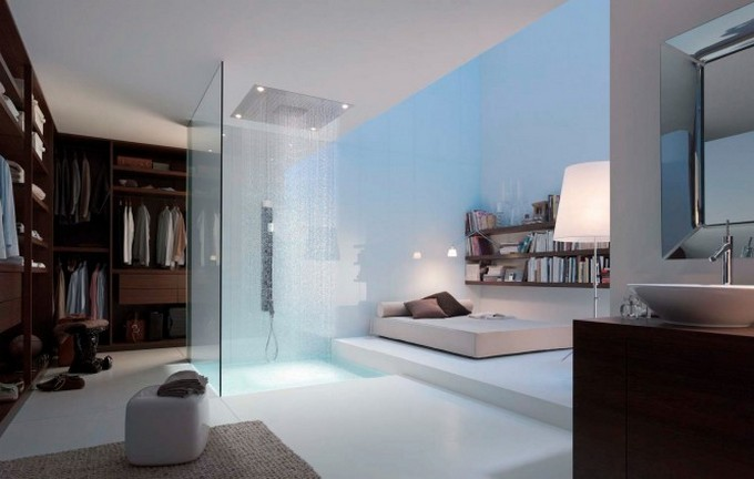 Top Bathroom Designers top bathroom designers Top Bathroom Designers That Will Elevate Your Bathroom With Their Projects Philipe Starck ensuite bathroom dressing room