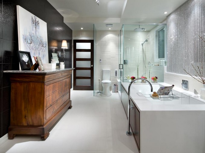 eclectic luxury Black and white bathrooms Black and white bathrooms Design ideas eclectic luxury