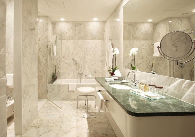 Bathroom countertops top surface materials for Granite colors for bathrooms