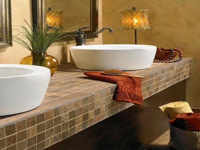 bathroom tile countertop ideas bathroom countertops top surface materials 16733