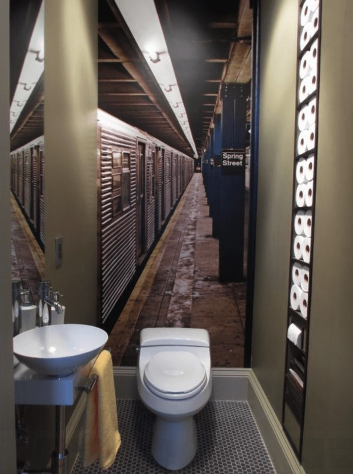 small bathrooms design small bathrooms Small Bathrooms That Will Blow Your Mind. banheiro adesivado