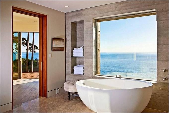 Modern Bathrooms Beautiful Modern Bathrooms With Ocean Views luxury bathrooms with ocean view maison valentina11