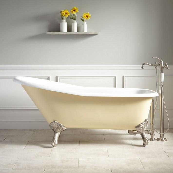 451197-66-goodwin-slipper-clawfoot-tub-light-yellow claw foot bathtubs Graceful Claw foot Bathtubs That You'll Love 451197 66 goodwin slipper clawfoot tub light yellow