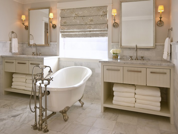Original_Bathroom-Vanities-DeCesare-Design-Group-Double-Vanities-Tub_s4x3 claw foot bathtubs Graceful Claw foot Bathtubs That You'll Love Original Bathroom Vanities DeCesare Design Group Double Vanities Tub s