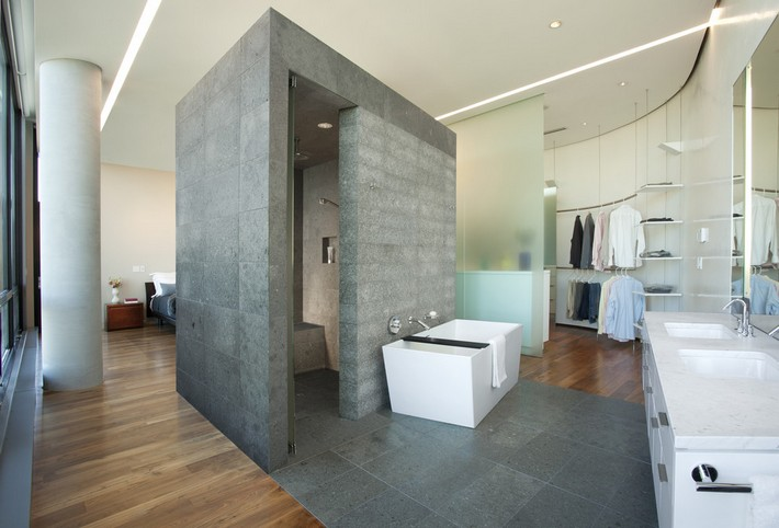 Bathroom Sets Luxury Reconditioned Bath Tub In Master Bedroom: Incredible Open Bathroom Concept For Master Bedroom