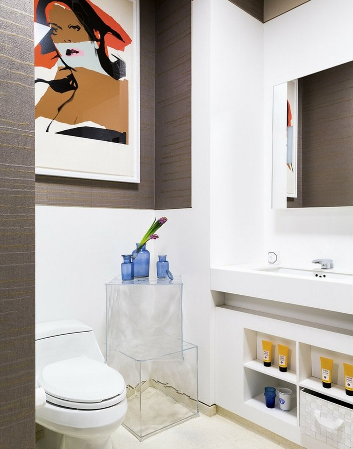 salle-de-bains-design-etageres bathrooms with living room style Get Inspired With These Bathrooms with Living Room Style salle de bains design etageres