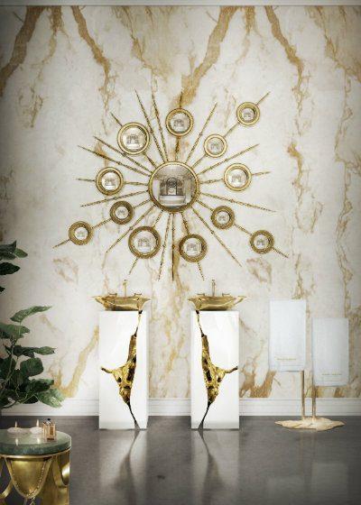 white bathroom Minimalist White Bathroom Designs to Fall In Love 8 lapiaz freestand apollo mirror maison valentina HR 400x560