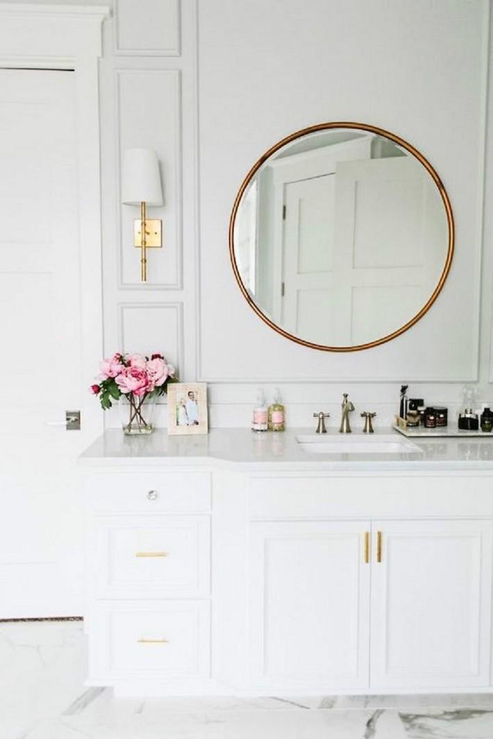 bathroom mirrors design ideas  white bathroom Minimalist White Bathroom Designs to Fall In Love Espelhos na decoracao decor e modices 3