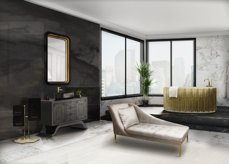 master bathroom ideas maison valentina best accent chairs 5 Best Accent Chairs That Will Create A Focal Point In Your Bathroom 12 metropolitan washbasins ring mirror envy chaise long symphony bathtub maison valentina 1 HR