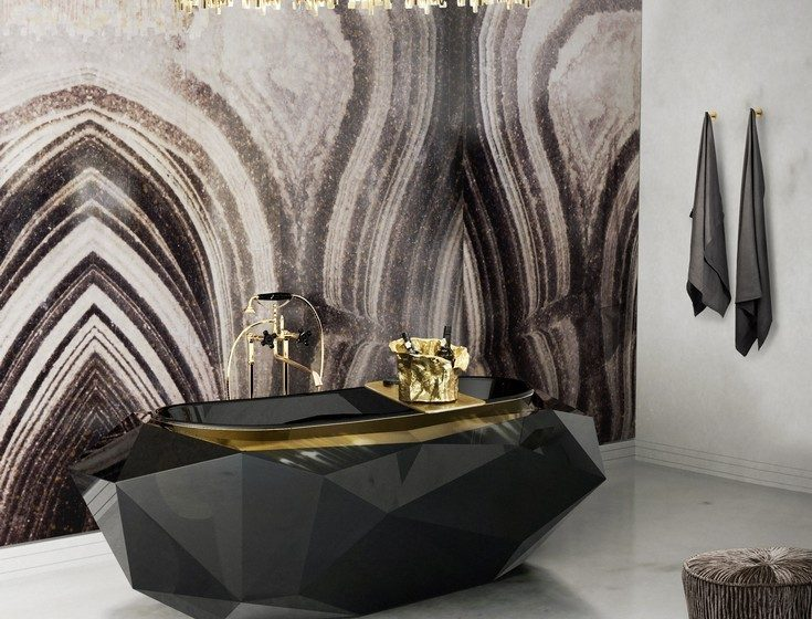 master bathroom ideas brown surfaces Brown Surfaces:  Choose the one that fits best in your luxury bathroom 9 diamond bathtub matheny suspension maison valentina HR 735x560