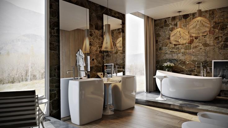 luxury  bathroom ideas maison valentina master bathroom ideas Master Bathroom Ideas to Inspiring Your New Oasis Wood  Stone   Shadows  6