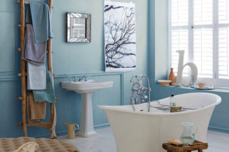 Pantone Airy Blue Inspiration For Your Bathroom