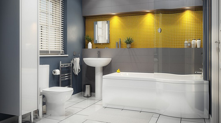 Top Inspiring Bathrooms Using Spicy Mustard Pantone spicy mustard Top Inspiring Bathrooms Using Spicy Mustard Pantone contemporary bathroom