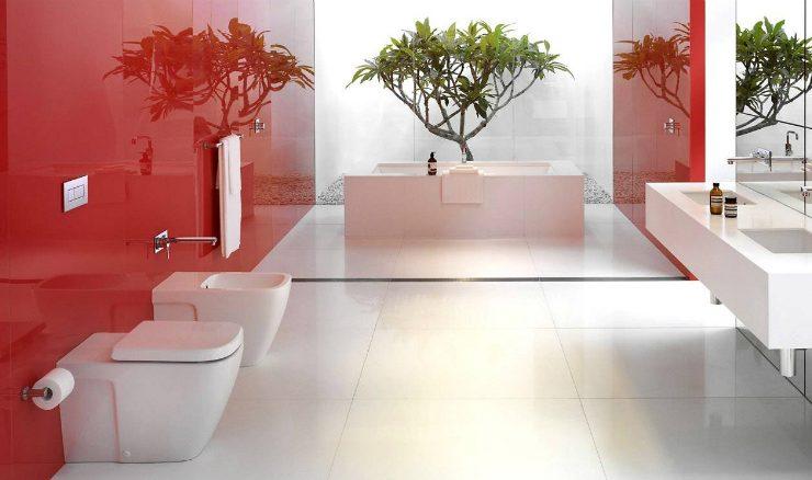 aurora red pantone Flourish your Bathroom with the Aurora Red Pantone red bathroom ideas 12 740x438