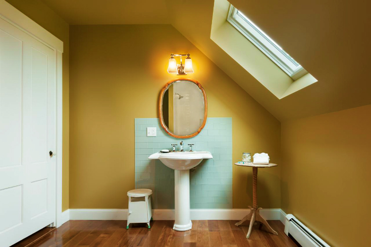 spicy mustard Top Inspiring Bathrooms Using Spicy Mustard Pantone stunning style of bathroom ideas 2
