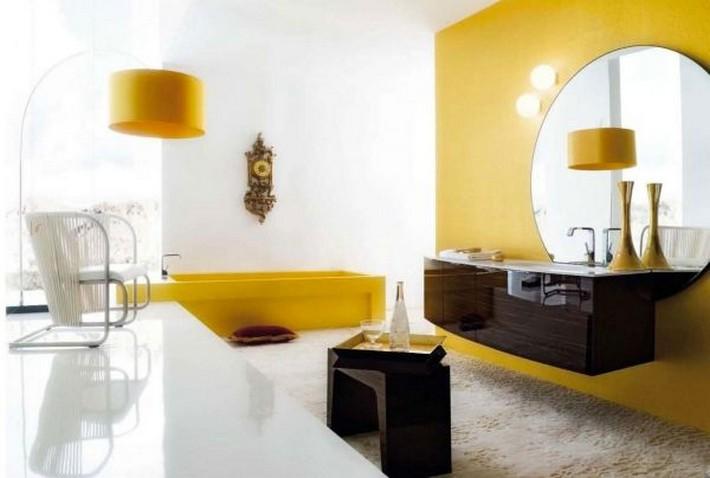 Top Inspiring Bathrooms Using Spicy Mustard Pantone spicy mustard Top Inspiring Bathrooms Using Spicy Mustard Pantone stunning style of bathroom ideas