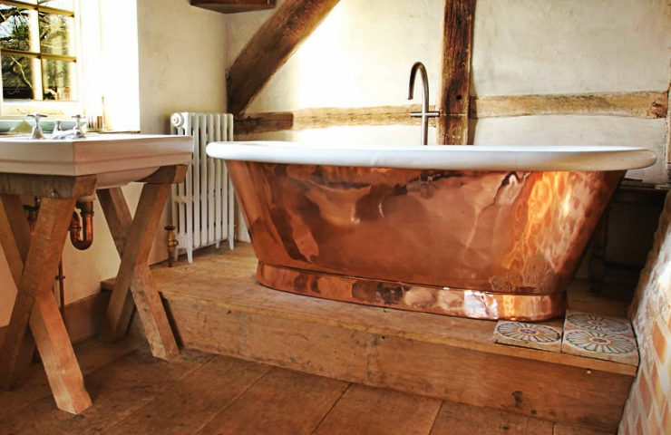 Achieve a Rustic Bathroom Look with Potter's Clay Pantone