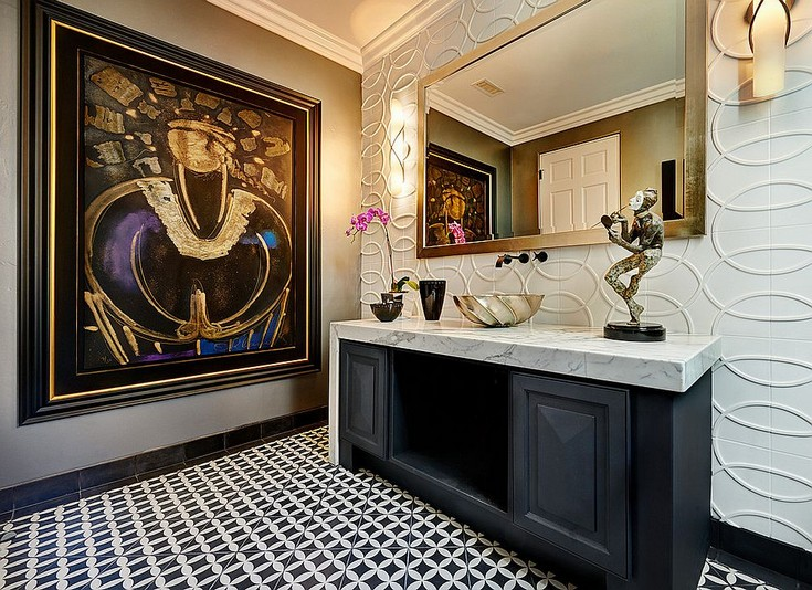 Always on Trend 20 Powder Rooms in Black and White 8 Powder Rooms Always on Trend: 20 Powder Rooms in Black and White Always on Trend 20 Powder Rooms in Black and White 8