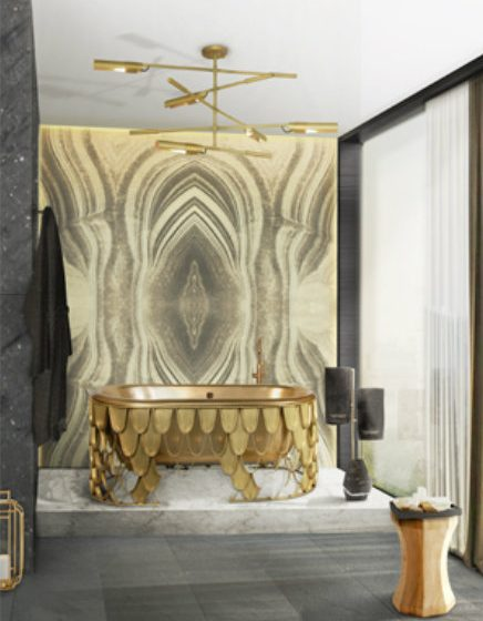 6 Steps For Designing A Luxurious Bathroom 6 Steps For Designing A Luxurious Bathroom 15 koi bathtub diamond towel rack thompson stool maison valentina small zoom 436x560