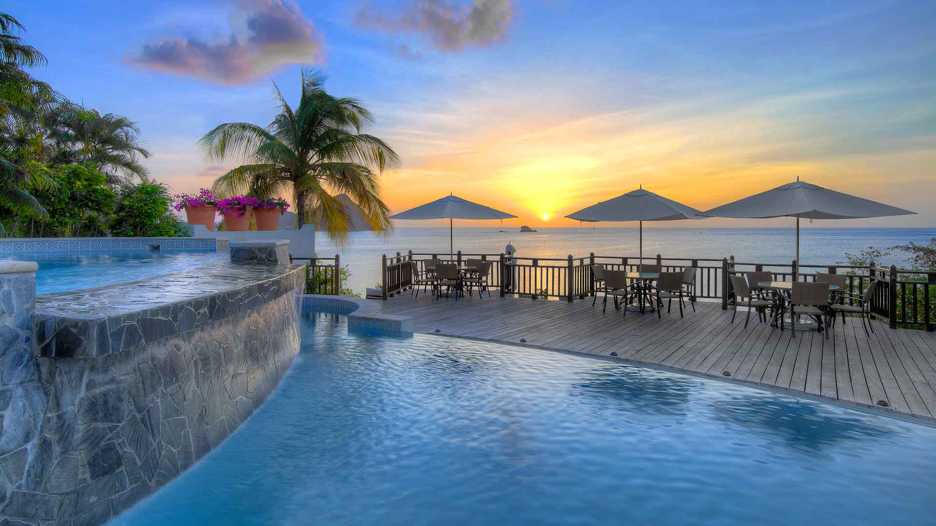 5 best all-inclusive resorts around the world 5 best all-inclusive resorts around the world 5 Best All-Inclusive Resorts Around The World 02 Cap Maison perfect sunsets from Clifftop pool 1