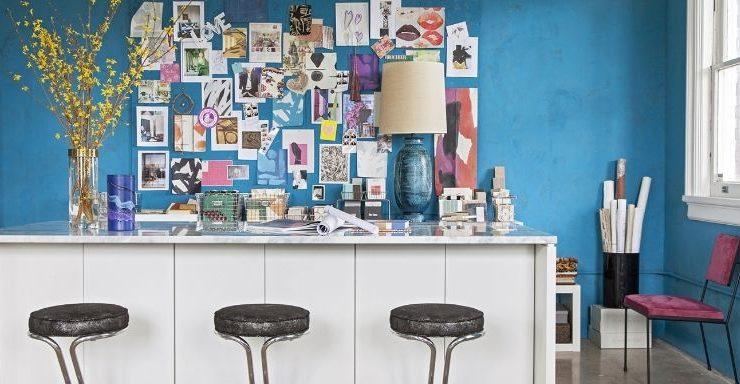 Angie Hranowsky's Design Studio Studio Tour: Meet Angie Hranowsky's Design Studio design studio 1 1494530135 740x384
