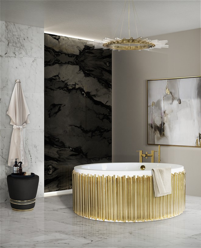 Interntional Bathroom Exhibition.bathroom.#salonedelmobile. Read More:http://www.maisonvalentina.net/en/inspiration-and-ideas/sem-categoria/isaloni-interntional-bathroom-exhibition-2018 isaloni iSaloni- International Bathroom Exhibition 2018 27 symphony bathtub black paramount surface HR1