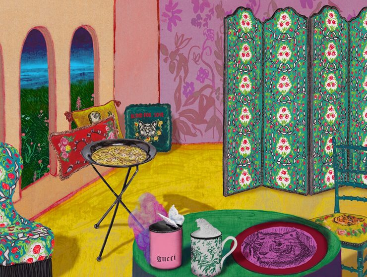 home décor line by gucci Discover The Stunning Home Décor Line by Gucci 03 gucci home decor launch 1 740x560