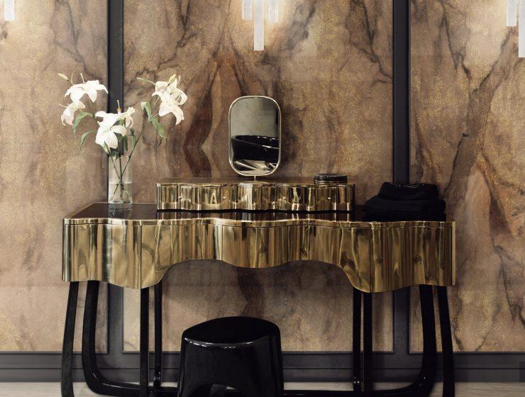 Interior Design Fall Trends 5 Stunning Interior Design Fall Trends 28 sinuous dressing table bronze rust surface HR 740x560
