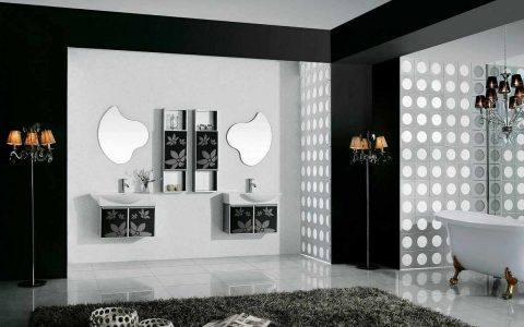 Black and White Decor Ideas Black and White Decor Ideas for Your Interiors black and white wall art for bathroom 480x300