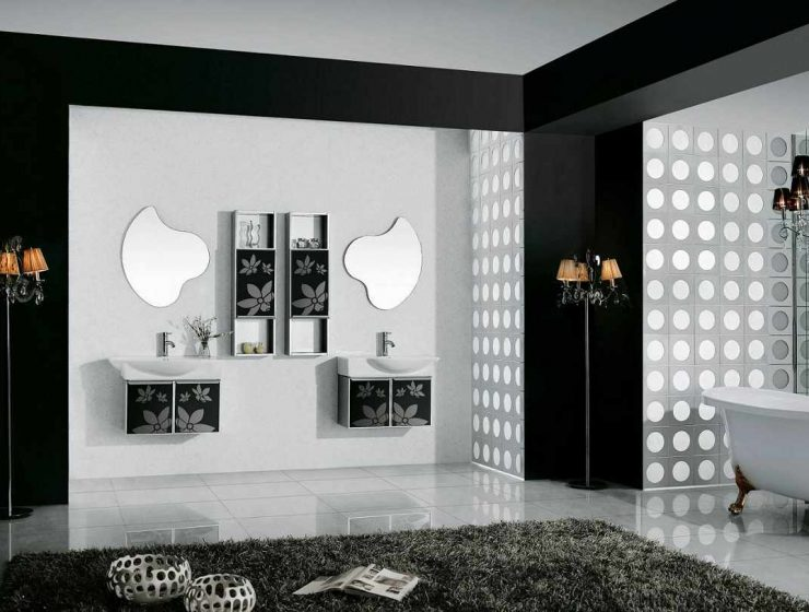 Black and White Decor Ideas Black and White Decor Ideas for Your Interiors black and white wall art for bathroom 740x560