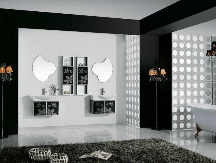 Black and White Decor Ideas Black and White Decor Ideas for Your Interiors black and white wall art for bathroom 740x560