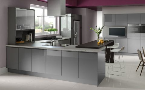 best grey kitchen ideas Best Grey Kitchen Ideas for a Chic Space fusion gloss grey rta m 480x300