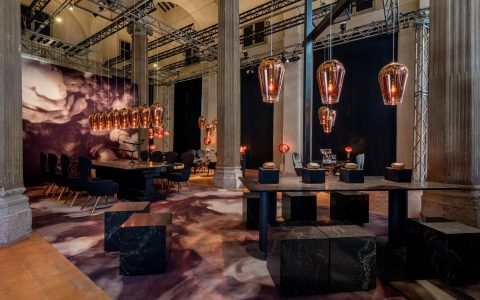 Restaurant by Tom Dixon and Caesarstone Discover the Stunning Restaurant by Tom Dixon and Caesarstone restaurant caesarstone tom dixon milan design week 2016 dezeen 1568 4 1 480x300